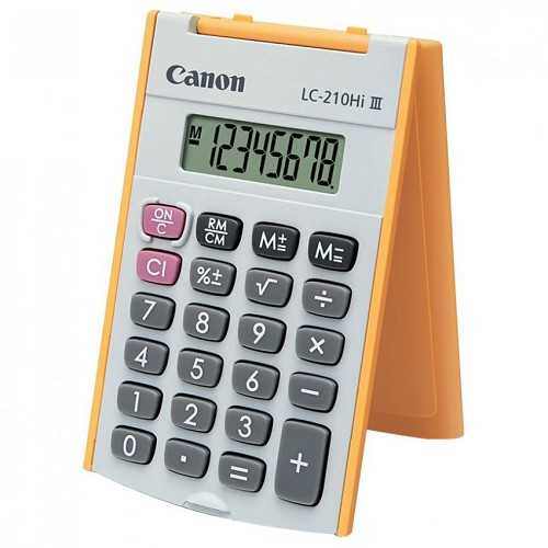 CANON Kalkulator [LC-210Hi III] - Orange - Kalkulator Office / Pocket